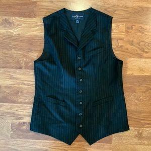 RALPH LAUREN BLack pin stripe vest